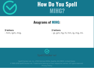 Correct spelling for MIHG