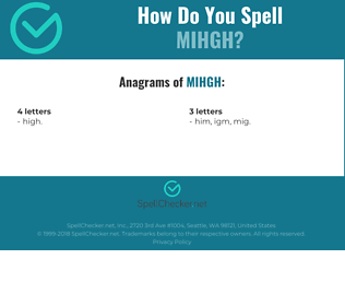 Correct spelling for MIHGH