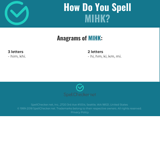 Correct spelling for MIHK