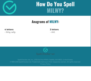 Correct spelling for MILWY