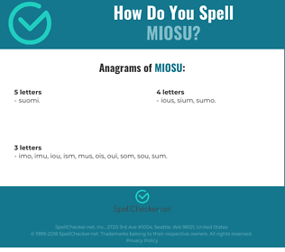 Correct spelling for MIOSU