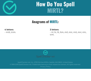 Correct spelling for MIRTL