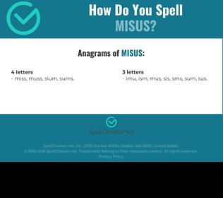 Correct spelling for MISUS