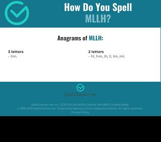 Correct spelling for MLLH