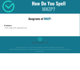 Correct spelling for MNZP