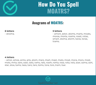 Correct spelling for MOATRS