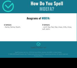 Correct spelling for MOEFA