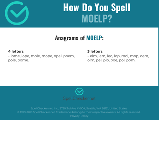 Correct spelling for MOELP
