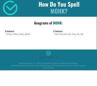 Correct spelling for MOHK