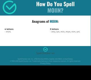 Correct spelling for MOIIN