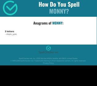 Correct spelling for MONNY