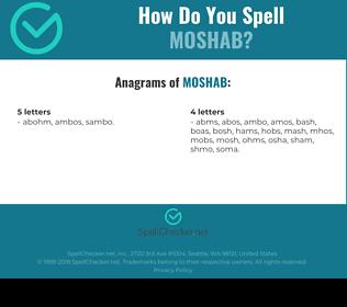 Correct spelling for MOSHAB