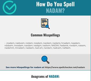 Correct spelling for NADAM