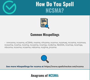 Correct spelling for NCSMA