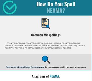 Correct spelling for NEAMA