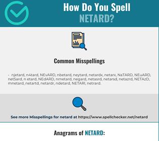 Correct spelling for NETARD