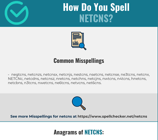Correct spelling for NETCNS