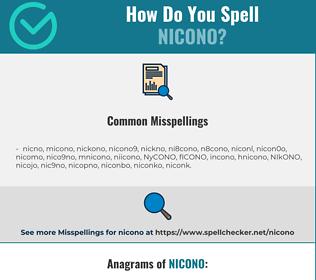 Correct spelling for NICONO