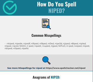 Correct spelling for NIPED