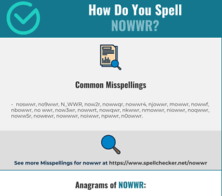 Correct spelling for NOWWR
