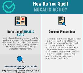 Correct spelling for NOXALIS ACTIO