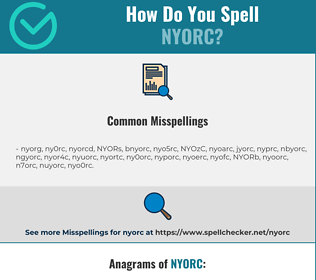 Correct spelling for NYORC