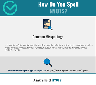 Correct spelling for NYOTS