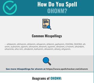 Correct spelling for OHONM