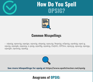 Correct spelling for OPSIG