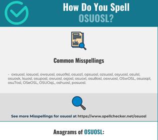 Correct spelling for OSUOSL