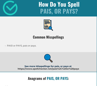 Correct spelling for PAIS, or PAYS