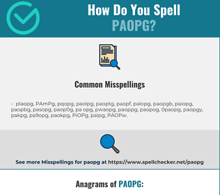 Correct spelling for PAOPg