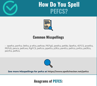 Correct spelling for PEFCS