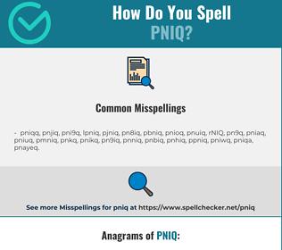 correct spelling for pniq infographic spellchecker net spellchecker net