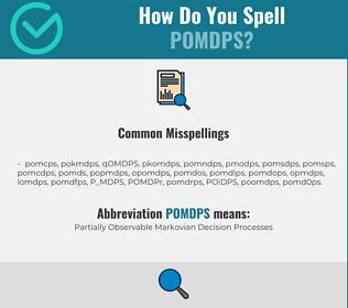 Correct spelling for POMDPS