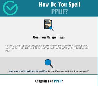 Correct spelling for PPLIF
