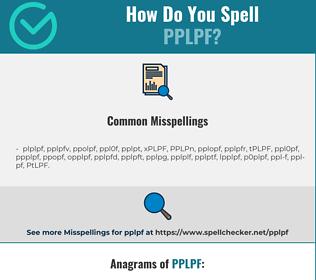 Correct spelling for PPLPF