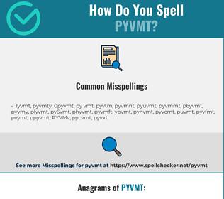 Correct spelling for PYVMT