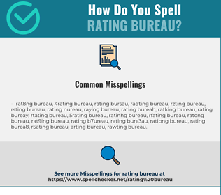 Correct spelling for RATING BUREAU