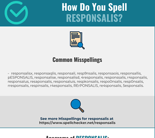 Correct spelling for RESPONSALIS