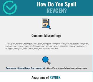 Correct spelling for REVGEN