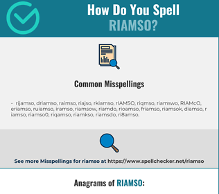 Correct spelling for RIAMSO