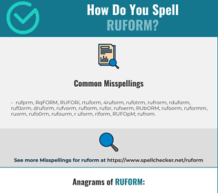 Correct spelling for RUFORM