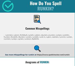 Correct spelling for RUNKIN