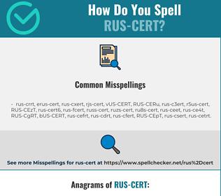 Correct spelling for RUS-CERT