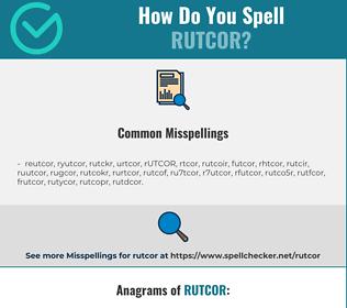 Correct spelling for RUTCOR