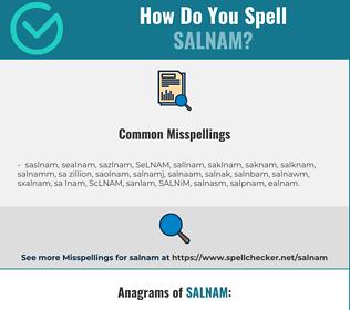 Correct spelling for SALNAM