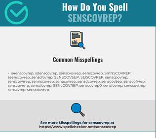 Correct spelling for SENSCOVREP