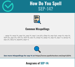 Correct spelling for SEP-14