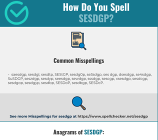 Correct spelling for SESDGP